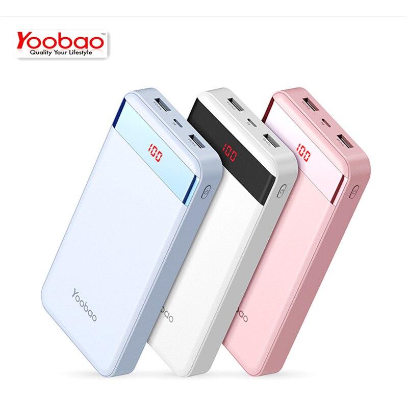 Yoobao Mini 20000mAh-S20-1 USB Batería de Reserva Externa Banco de la Energía Du