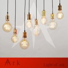 Simple pendant lamps Vintage retro led lights E27/E26 lamp holder 120cm black wire hanging line for club coffe bars ~NO bulb