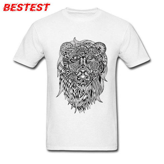 Fashion T Shirt Print Men Tshirt Indonesia Batik Bear Tees
