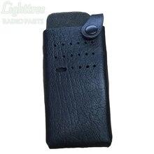 Genuine Leather Case Holster Holder For Motorola DEP550E XIR P6600I XPR3300E