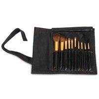 Professional 10pcs Makeup Brushes Set Blusher Lip Brush Portable Leather Bag Make Up Brushes Cosmetic Foundation