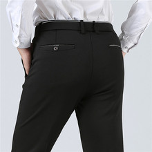 2019 New Spring Autumn Fashion slim fit Casual Pants Men Straight Dress Men Elastic Business Suit