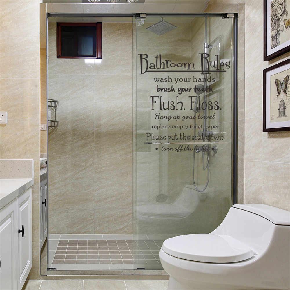 ¡2019 caliente! Cuarto de baño reglas lavado de vinilo decoración de pared  de Casa calcomanía citar habitación regalo lindo envío Jan24