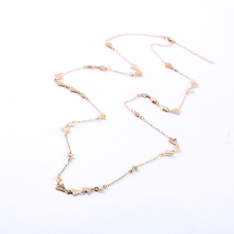 2e81f43fc Floretfig fashion necklace for women gold chain necklace silver layered  necklace designer simple triangle necklace -in Chain Necklaces from Jewelry  ...