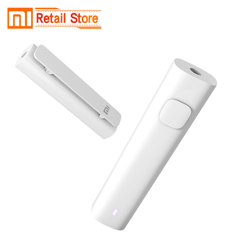 Original Xiaomi Bluetooth 4.2 Audio Receiver Wireless Adapter 3.5mm Jack AUX Audio Music Car Kit Speaker Headphone Hands Free holographic belt purse