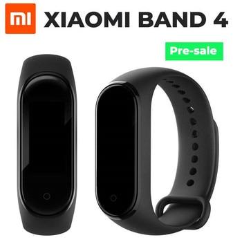 Origina Xiaomi mi Band 4 смарт-Браслет фитнес-браслет mi Band 4 большое сообщение время сердечного ритма Smartband сенсорный экран OLED