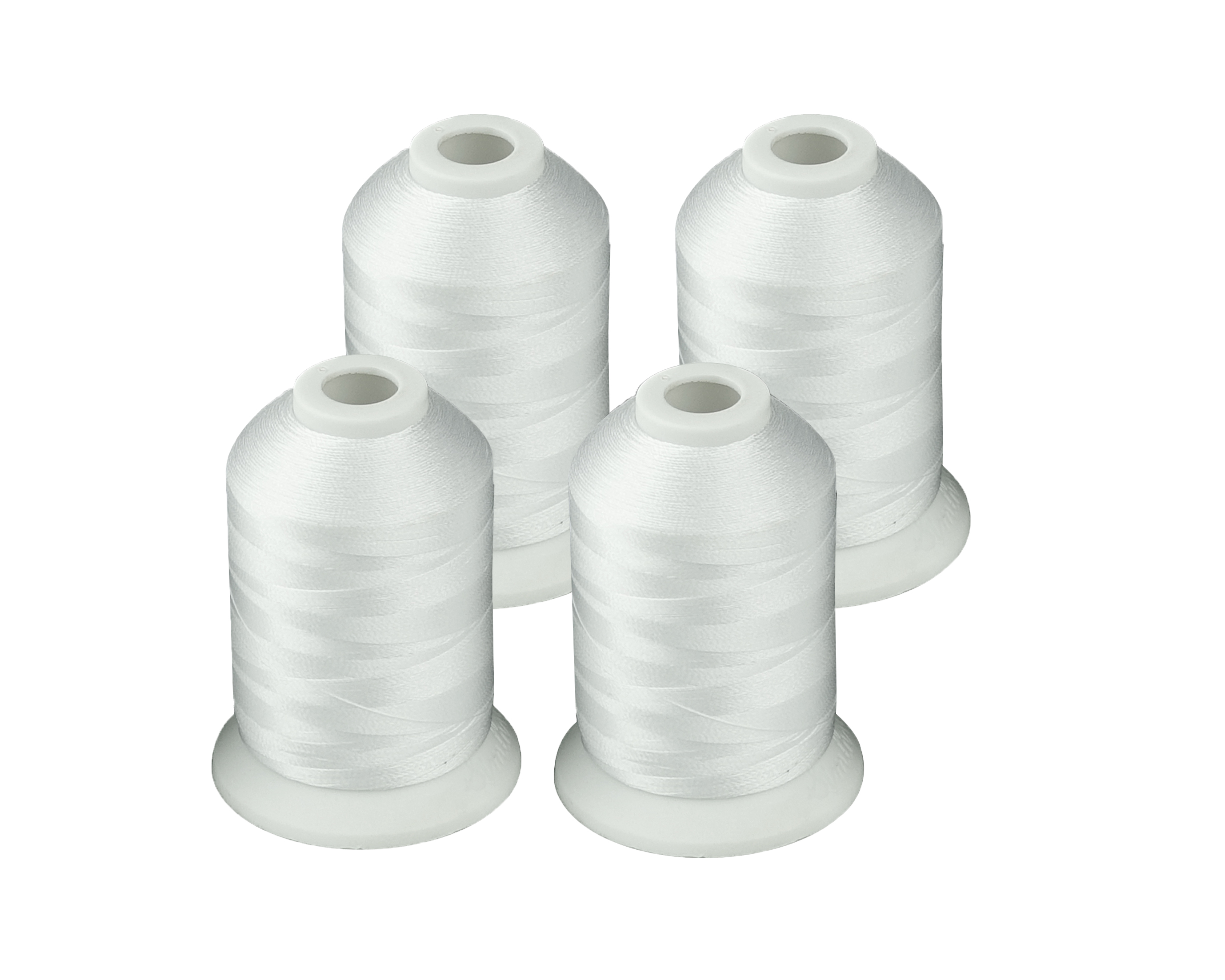 Simthread Black Or White Brother Colors Polyester Embroidery Machine Thread 1000m X 4 Pcs Each
