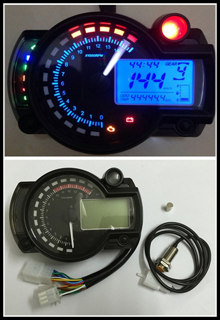 Motorcycle Meter KTM Universal Refit Meter LCD digital motorcycle speedometer odometer bike tachometer backlight чайник электрический vitek vt 1129 tr