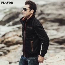 FLAVOR Real leather Men Jacket