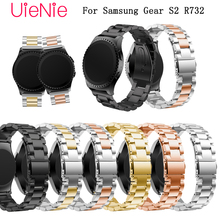 20mm bracelet For Samsung Gear S2 R732 Smart watch band luxury business wristband metal stainless wrist strap bracelet Band stainless steel bamboo style wrist strap with butterfly clasp watch band for samsung gear s2 classic sm r732 bracelet