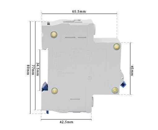CHNT MCB Mini Household Circuit breaker C type DZ47-60 1 Pole 40Amp  230V
