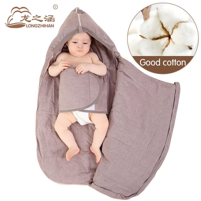100% Cotton Envelope For Newborns Winter Baby Sleeping Bags Sleepsacks Baby Slaapzak Outdoor Brand SwaddleMe Infant Sleep Sack