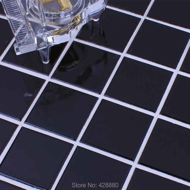 Glazed Porcelain Tile Black Wall Tiles Kitchen Back Splash Ceramic