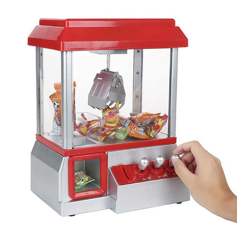 Kids IQ Toys Electronic Claw Toy Candy Grabber Coin Operated Game Doll Machine With LED Lights And Music Sound Without Toys