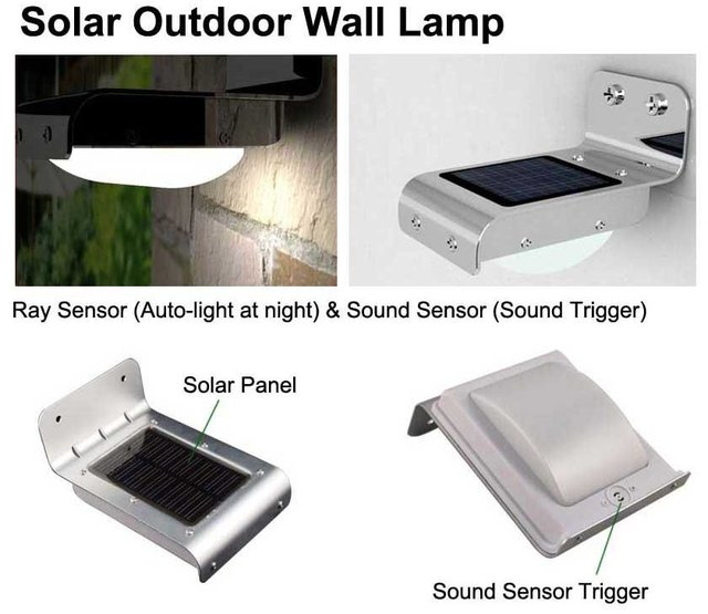 On sale 20 off solar sound sensor outdoor wall light - Lamparas para exteriores ...