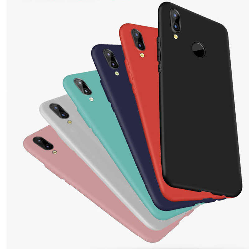 Candy Color Silicon TPU Soft Case For Huawei Honor 8X 8C 7A View 20 10 9 8 Lite P30 P20 P10 P Smart Y9 2019 Mate 20 matte case