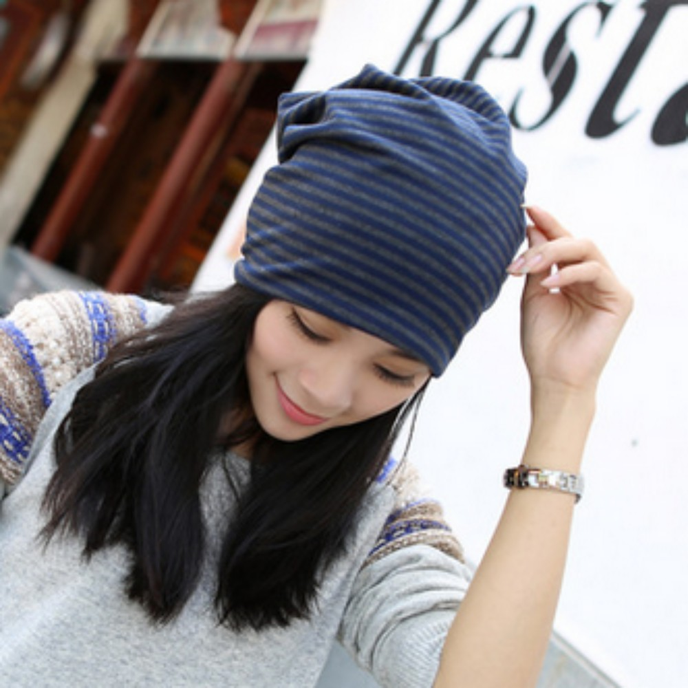 Female Cotton Striped Hats Spring Autumn cap Headwear stretchable cap High quality materials New Fashion Style