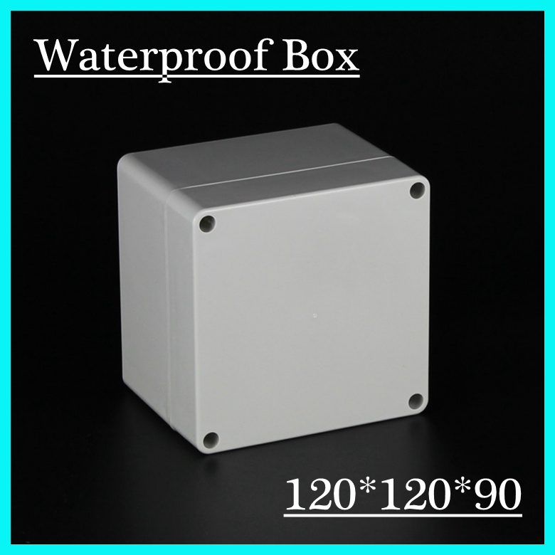 120*120*90mm Junction Box Instrument Chassis Instrument Housing Sealed Box Plastic Housing Waterproof Plastic Enclosure Case surface mounted plastic sealed electric junction box case 230x126x80mm