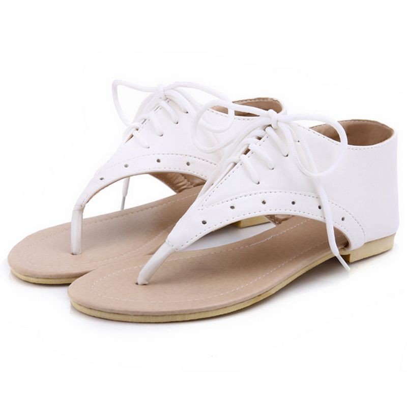 Women Flat Sandals Summer Gladiator Sandals clip toe flip flops Fashion Summer shoes lady casual Flat Sandals Size 34-43 PA00281