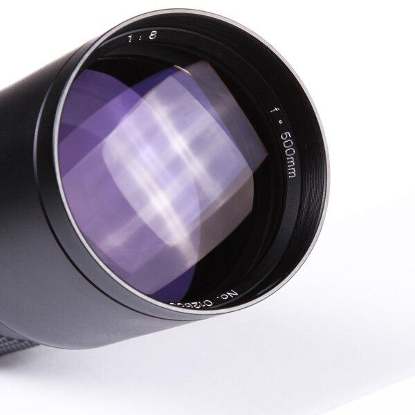 500mm F8.0 Telephoto Lens Manual Zoom with T-Mount for Nikon D7100 D810 D750 D760 D610 D7200 D5300 4