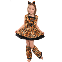 Eraspooky Carnaval Costumes For Kids Cute Head Band Children Cosplay Lovely Halloween Costume Tiger Costume Dress