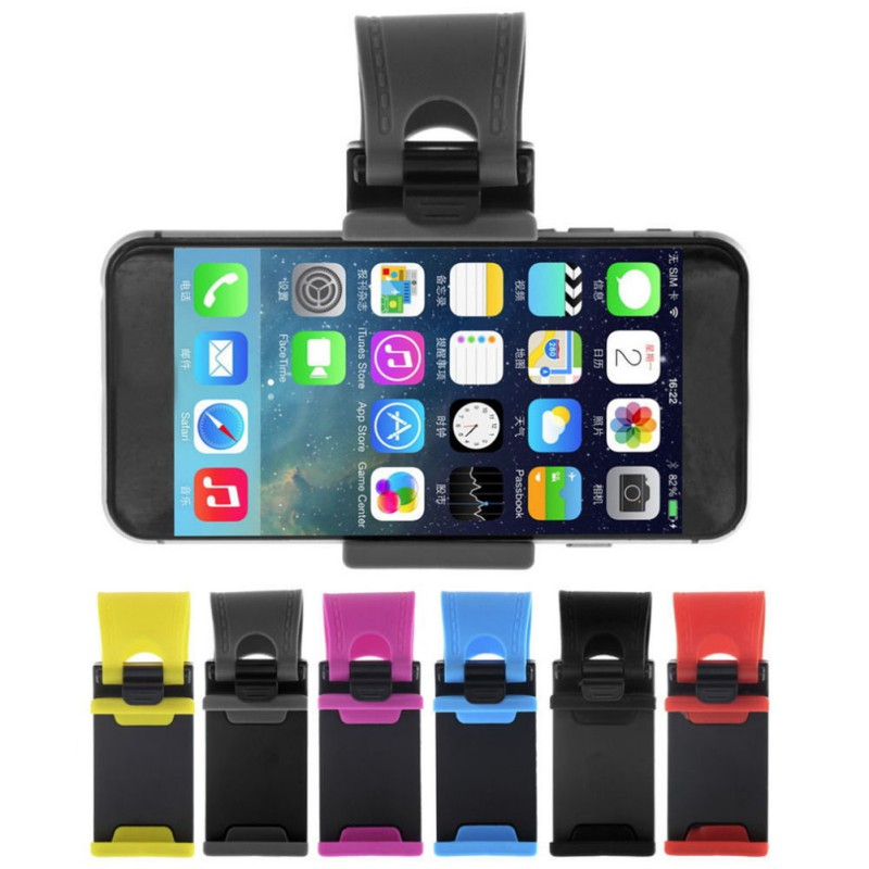 Universal Car Steering Wheel Clip Mount Holder For iPhone 8 7 7 plus 6 6 s Samsung xiaomi Huawei mobile phone GPS Tool 5.15