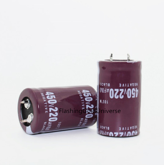 100% new 10pcs/lot Electrolytic capacitors <font><b>450V</b></font> <font><b>220UF</b></font> <font><b>220UF</b></font> <font><b>450V</b></font> 25*40 22*45MM filter capacitor image