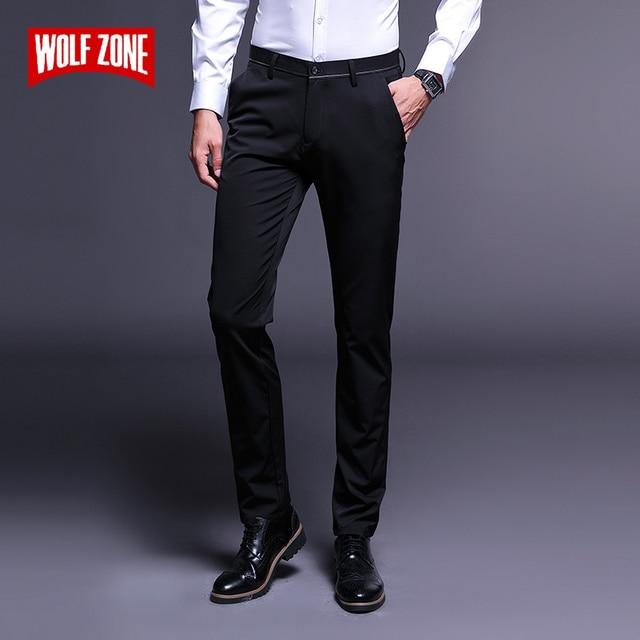 Marca de moda de lujo Casual Pantalones Hombre Slim Fit hombres ropa  clásica nueva Otoño Invierno. Sitúa el cursor encima para ... 72f4221e0766