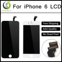 10PCS/LOT A+++Quality For iPhone 6 LCD Display With Touch Screen Digitizer Assembly Black/White Lcd Free Ship OEM