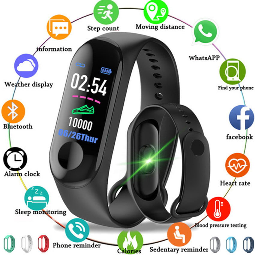 HOT Smart Band Fitness Tracker Watch Smartband Step HR Bracelet For IOS/Xiaomi/Honor PK Mi Band 3/4 Fit Bit 5 Not Xiomi|Smart Wristbands|Consumer Electronics - title=