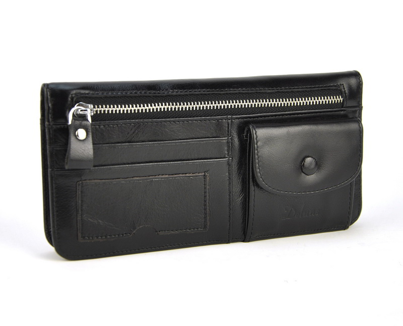 Men Women Genuine Real Leather Long Wallet Vintage Credit Card Holder Retro Zip Coin Bag Fashion Clutch ID Photo Window Purse tiding brand luxury genuine cow leather retro men long wallet clutch bag vintage cowhide leather purse card holder coin pouch