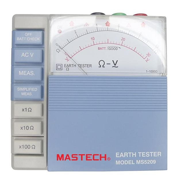 MASTECH MS5209 Analog Earth Resistance Test Meter Megger Megometro ...