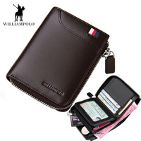 2018 NEW Mens Wallet Leather Genuine Small Zipper Men Wallets Purse portmonee man Slim Wallet Brand High Quality Designer EA0298