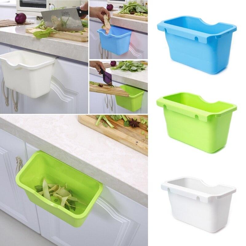 plastic kitchen cabinet door hanging trash garbage can bin rubbish container p101 - Plastic Kitchen Cabinet