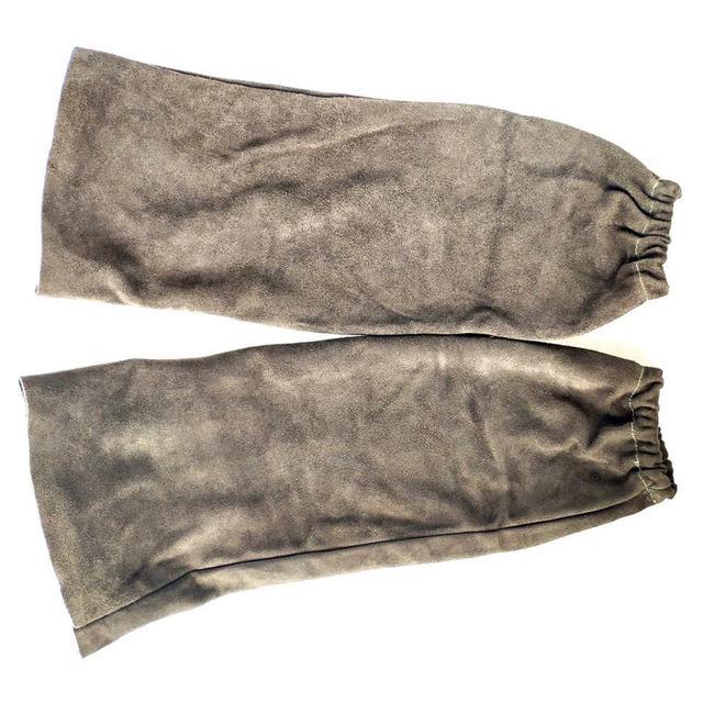 """Welding Sleeve Welder Arm Sleeve Split Cowhide Leather Sleeve 48cm 19"""" CE Welding Protection Sleeves"""