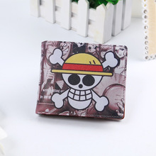 Anime Character Design Short Wallet Card Holder Bag