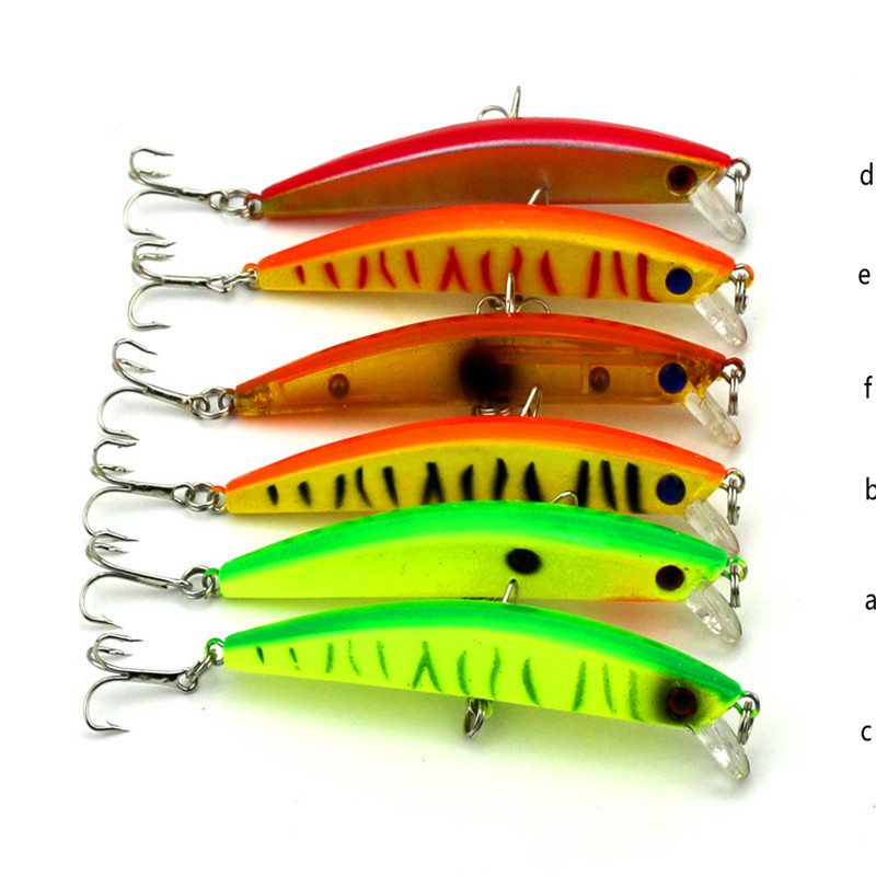 CALOFE 6PCs 9.5cm Wobblers Fishing Tackle 3D Eyes Sinking Minnow Fishing Lure Crankbait 6# Hook Hard Bait Wobbler Fishing Lure wldslure 1pc 54g minnow sea fishing crankbait bass hard bait tuna lures wobbler trolling lure treble hook