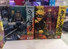 SHF Figuarts Japan Anime NARUTO Uzumaki Naruto Uchiha Sasuke PVC Action figure Collectible Model toys Dolls For Children 14.5cm