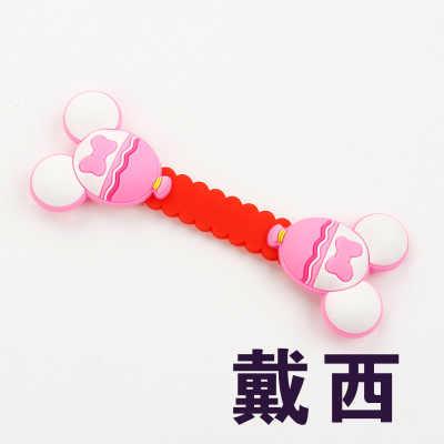1 sztuk Cartoon uchwyt słuchawkowy przewód słuchawkowy kabel drutu organizator ładowarka USB kabel Winder najlepszy prezent dla iPhone Samsung Xiaomi