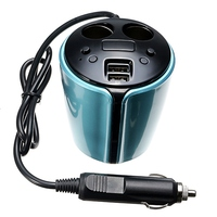 Multi Functional 5V 3 1A 2 USB Ports Car Charger Cigarette Lighter Car Cup Charger Adaptor