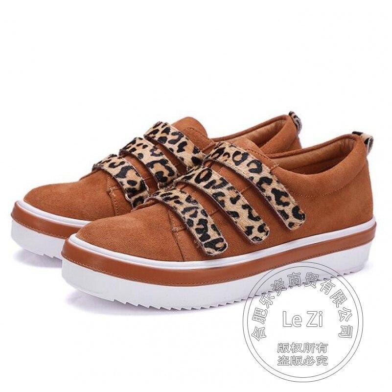 Suede font b Womens b font Shoes Runway Designer High Street Light Tan Plain Flat Platform