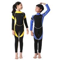 PROMOTION 2mm Neoprene Wetsuit For Kids Boy Girl Surfing Snorkling Scuba Diving Rear Zip One Piece