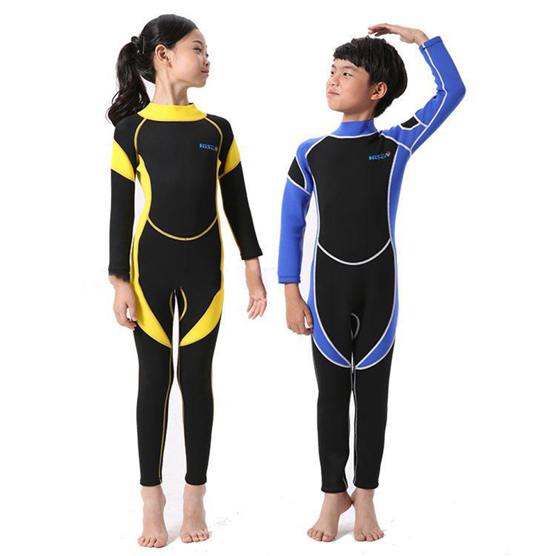 Kids 2.5MM Neoprene Scuba Diving Suit Wet Suits Kids Swimwear Surfing Snorkeling One-Piece Suit Children Wetsuit Swim Jump Suit