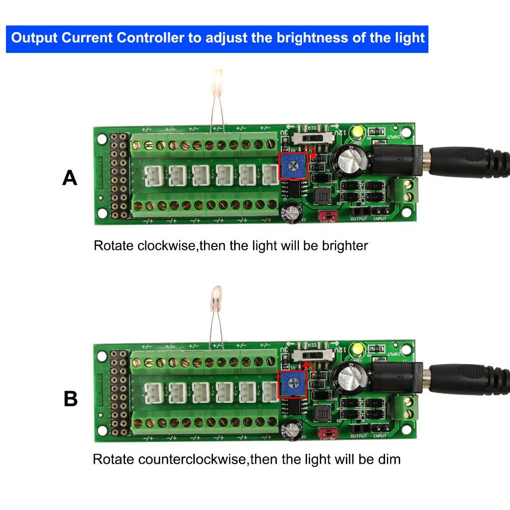 Image 3 - 1X Power Distribution Board Self adapt Distributor HO N O LED Street Light Hub DC AC Voltage PCB012 Train Power ControlModel Building Kits   -