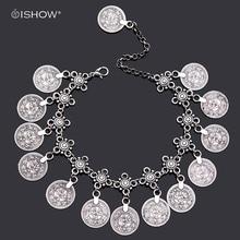 Монеты ножной браслет cavigliera донна лодыжке браслет серебряные украшения босиком лодыжки браслеты для женщин браслет chaine cheville femme