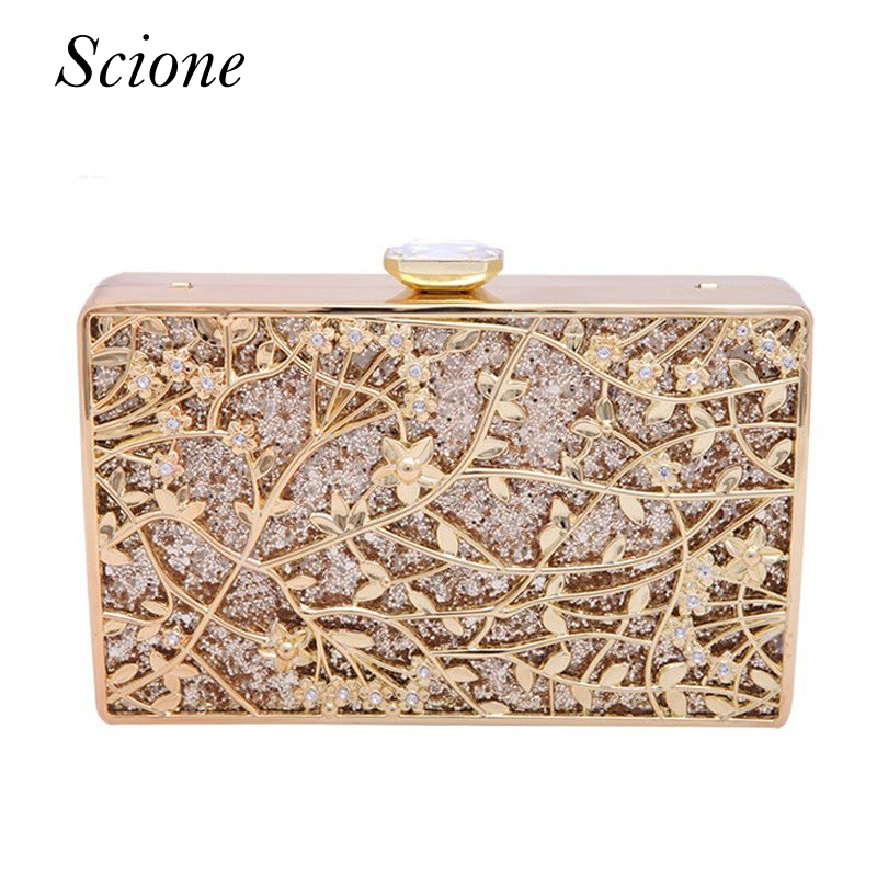 Luxury Women Flower Diamond Evening Bag Metal Crystal Wedding Bridal Party Purse Day Clutches Chains Handbags Shoulder bag Li761 ladies wedding dress bridal crystal clutch bag women diamond dinner banquet evening purse silver metal clutches smyzh f0300