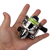 HOT Mini100 Pocket Spinning Fishing Reel Alloy Fishing Tackle Small Spinning Reel 4.3:1 Metal wheel pesca Children's Small Reel