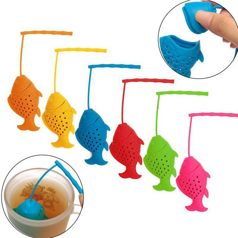 Non-toxic Tea Infuser Kitchen Supplies Tea Bag Tea Strainer Teapot Accessory Silicone 1 PCS FIsh Shaped