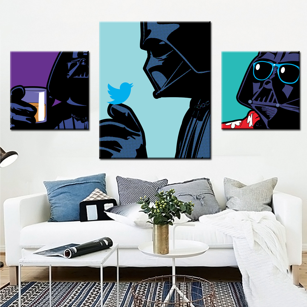 popular pop art movies buy cheap pop art movies lots from china star wars canvas pop art painting movie poster wall art prints abstract wall picture for living