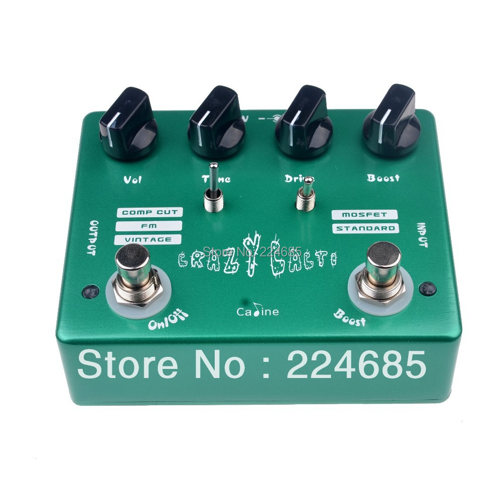 Caline CP-20 Crazy Cacti Overdrive Guitar Effect Pedal True Bypass Design Aluminium Alloy Բնակարանային կիթառի պարագաներ Ոտնաթաթի էֆեկտ